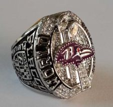 Buy 2012 NFL Super Bowl XLVII Baltimore Ravens Super Bowl Championship Ring Size 11