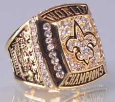 Buy 2009 NFL Super Bowl XLIV New Orleans Saints Super Bowl Championship Ring Size 11