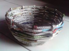 Buy Recycled Newspaper Craft Bowl