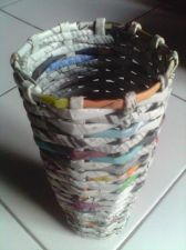 Buy Flower Vase Recycled Newspapers Craft