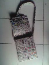 Buy Shoulder Bag Recycled Newspaper Craft
