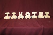 Buy Child's personalized wood name train with 7 letter cars