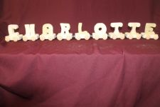 Buy Child's personalized wood name train with 9 letter cars