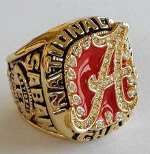 Buy 2009 Alabama Crimson NCAA Football Tide Championship ring replica size 11 US