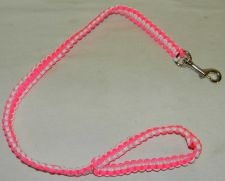 Buy new hand made in the usa paracord para cord pink white dog leash 550