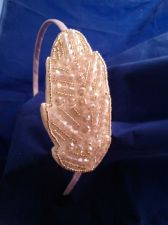 Buy The Light Pink Hand Beaded Crystal Headband