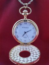 "Buy Civil War Vintage Antique Style Pocket Watch 32"" Chain With See-Thru Window"