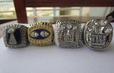 Buy A Set NFL New York Giants XXI XXV XLII XLVI Super Bowl Championship ring size 11