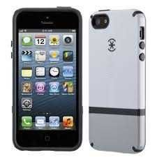 Buy Speck Products CandyShell Flip Dockable Case for iPhone 5 & 5S White/Pebble Grey