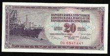 Buy YUGOSLAVIA - 20 DINARA 1978 - UNC - P88a Serial DU 6541441