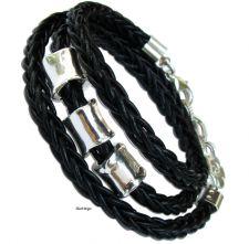 Buy Leather wrap bracelet , silver beads, silver charm bracelet, women jewelry, sale