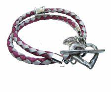 Buy Silver heart leather wrap bracelet fashion jewelry friendship bracelet - SALE