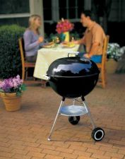 Buy Weber Silver One-Touch Kettle Grill, Eat Outdoor Cooking Stainless Barbecue bbq