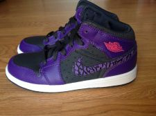 Buy for sale New Nike Air Jordan 1 Phat Anthracite Spark Purple Retro Kids size 1.5