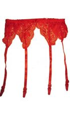 Buy Red Lace Garter Belt One Size