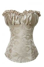 Buy Padded Cup Satin & Damask Corset champagne S