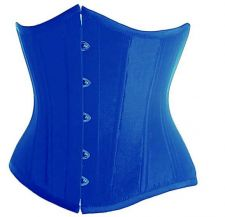 Buy Satin Underbust Cincher Corset blue M