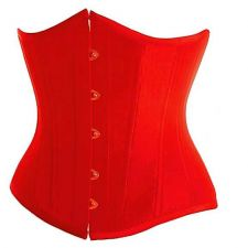 Buy Satin Cincher Underbust Corset red M