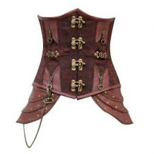 Buy Steampunk Steel Boned Underbust Cincher Corset brown M
