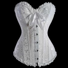 Buy Damask Heart Shape Corset white M