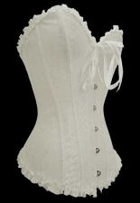 Buy Bridal Damask Heartshape Corset white L