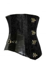 Buy Steampunk Damask & Leather Underbust Corset black L