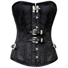 Buy Damask Steampunk Corset black XL