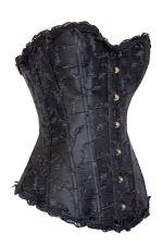 Buy Deluxe Elegant Jacquard Weave Corset black XL