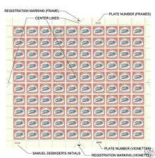 Buy 1918 24 cent Inverted Jenny Sheet of 100 Stamps