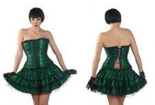 Buy Corset & Pettiskirt green/black 1xl/2xl