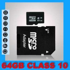 Buy 64GB MicroSD sd sdhc sdxc MicroSDHC TF Class 10 C10 Memory Card + FREE ADAPTER