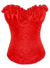 Buy Plus Size Padded Cup Damask Corset red 3xl/4xl