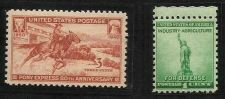 Buy 1940 Pony Express Scott# 894 & Statue of Liberty Scott# 899