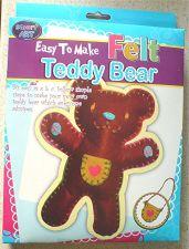 Buy Easy To Make Felt Teddy Bear Kids Craft Kit