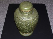 Buy Hand Painted Pottery Urn by Arnel's with Unknown Artist signature on bottom
