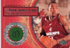 Buy 2003-04 UD Hardcourt # LB5 Lebron James Game Used Floor Court Card Rookie Jersey