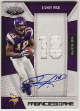 Buy 2010 Certified Fabric of the Game Sidney Rice Auto Jersey /25 Seahawks Vikings