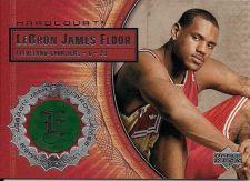 Buy 2003-04 UD Hardcourt #LB10 Lebron James Game Used Floor Court Card Rookie Jersey