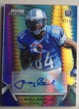 Buy RARE 2012 Bowman Sterling Ryan Broyles Prism Refractor SP Auto Rookie /15 Lions