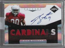 Buy Ryan Williams 2011 Limited Phenoms AUTO 3 Color PATCH Rookie Cardinals SP /299