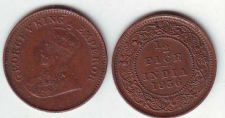 Buy BRITISH INDIA 1/2 PICE KING GEORGE 5th - YEAR 1936 FINE CONDITION