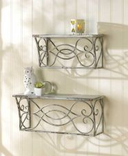 Buy Set of 2 Scrollwork Wall Shelves