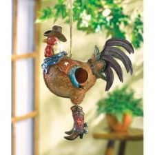 Buy Cowboy Rooster Birdhouse