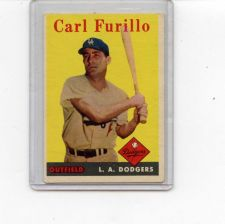 Buy 1958 TOPPS CARL FURILLO #417 DODGERS NICE CARD SEE PIC