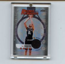 Buy 2005 TOPPS CHROME REFINED REMNANTS TIM DUNCAN JERSEY SPURS SEE PIC
