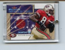 Buy 2002 FLEER DRESSED TO THRILL TERRELL OWENS JERSEY NINERS NICE CARD