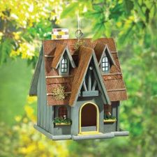 Buy Thatch Roof Chimney Birdhouse