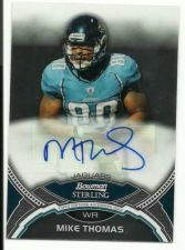 Buy 2011 Bowman Sterling Mike Thomas Auto Autograph Jacksonville Jaguars Texans