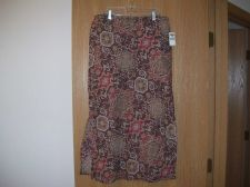 Buy OLD NAVY PRINT SKIRT Brown and Tan Nice! Size 6 NEW WITH TAGS!