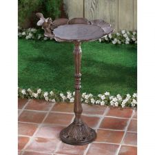 Buy Rustic Iron Birdbath